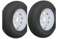 "Trailer Tire Prices at Walmart 2 Pack Trailer Wheel & Tire 425 St175 80d13 175 80 D 13"" Lrc 5 Hole"